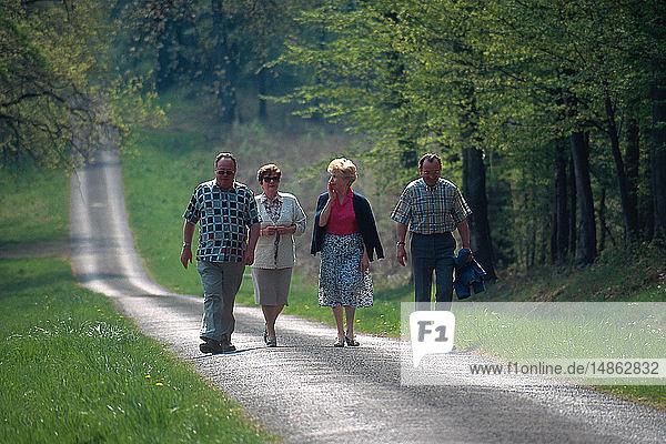 ELDERLY PERSON WALKING