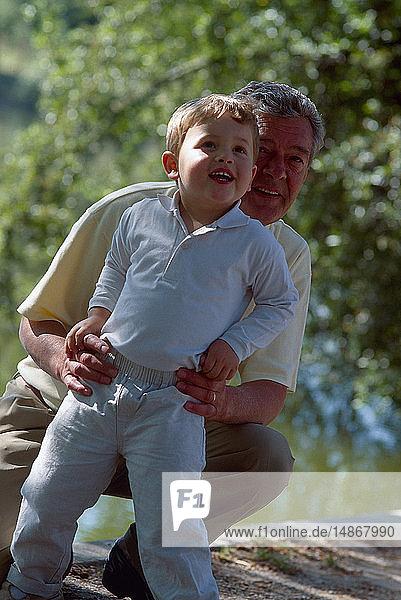 ELDERLY PERSON & CHILD