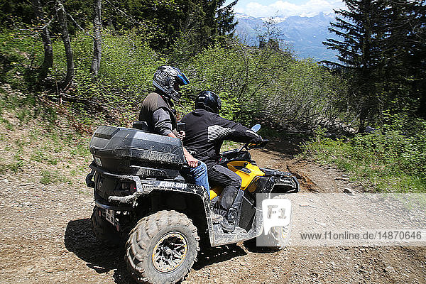 Quad biking in the french Alps.