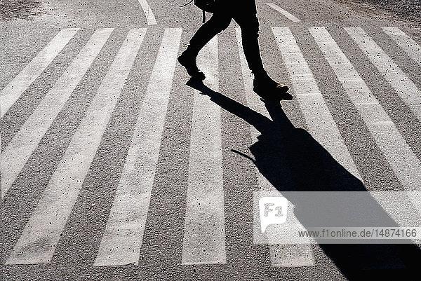 Pedestrian on pedestrian crossing