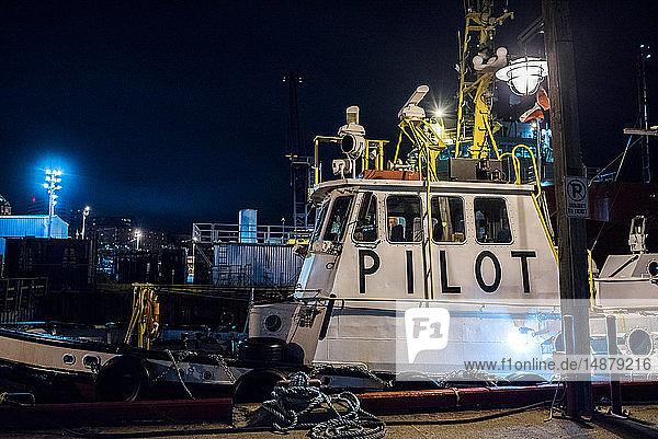 Im Hafen vertäute Schiffe  St John's  Neufundland und Labrador  Kanada