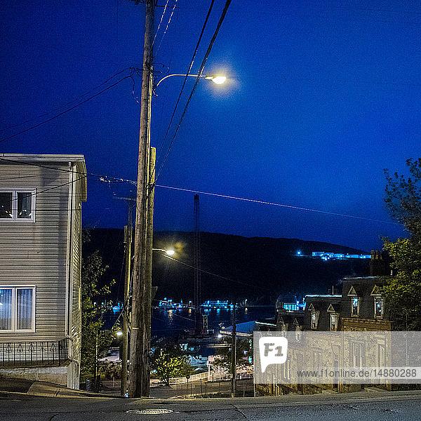 Friedliche Szene in einem Wohnviertel  St John's  Neufundland und Labrador  Kanada