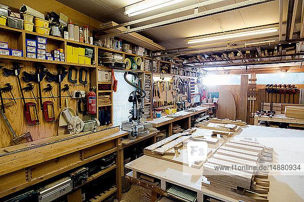 Craftsman's tools and workshop