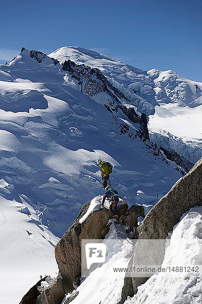 Mountain climbers  Chamonix  Rhone-Alps  France