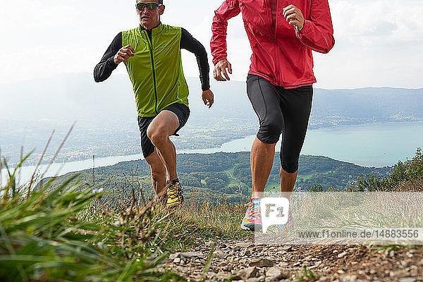 Jogger in Annecy  Rhône-Alpes  Frankreich