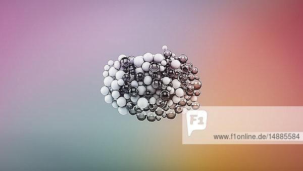 Abstrakte Blasen auf mehrfarbigem Hintergrund