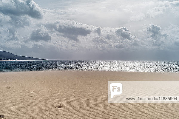 Spain  Tarifa  view from beach to the sea
