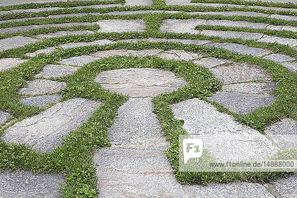 Italy  Alto Adige  Lana  natural open air maze