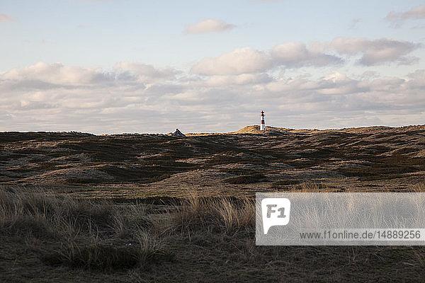 Deutschland  Sylt  Nationalpark Schleswig-Holsteinisches Wattenmeer  Dünenlandschaft  Ellenbogen  Leuchtturm List Ost