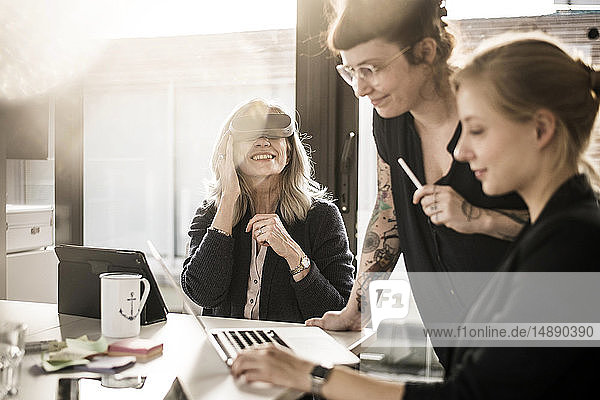 Creative businesswomen working together in office