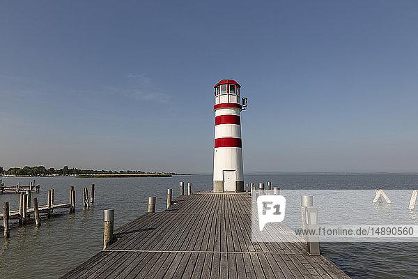 Austria  Burgenland  Lake Neusiedl  Podersdorf am See  lighthouse