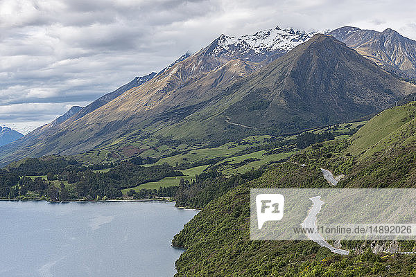 Mountains by Lake Wakatipu near Queenstown  New Zealand