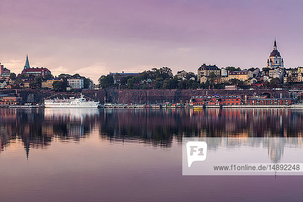 Skyline at sunset in Stockholm  Sweden
