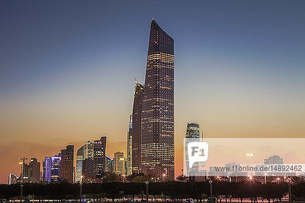 Skyline at sunset in Kuwait City  Kuwait
