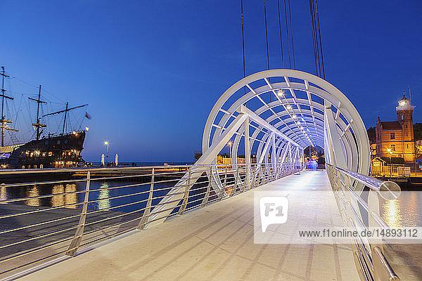 Pedestrian bridge in Ustka  Poland