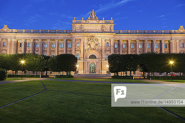 Parliament House at sunset in Stockholm  Sweden