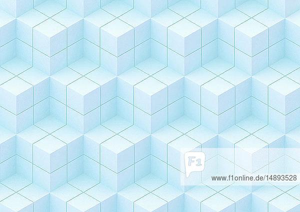 Formatfüllendes abstraktes Stufenwürfelmuster