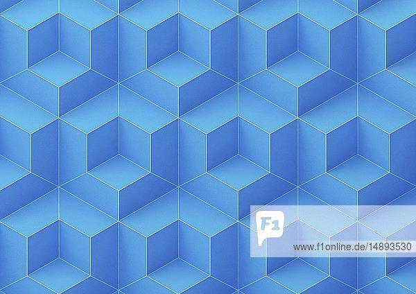 Formatfüllendes abstraktes dreidimensionales geometrisches Muster