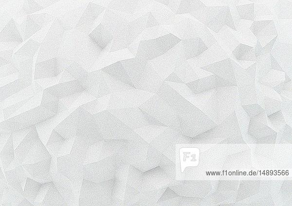 Formatfüllende weiße Low poly-Oberfläche