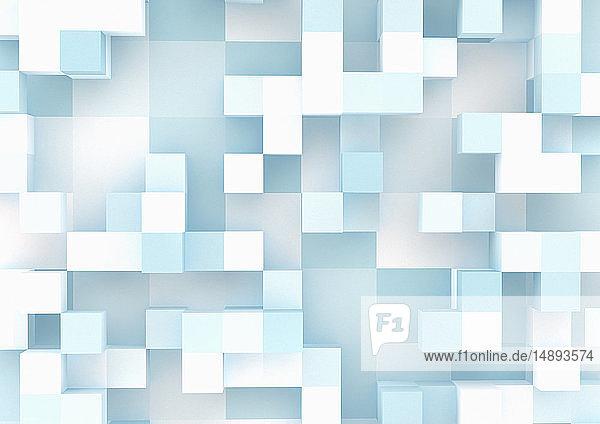 Dreidimensionales Würfelgittermuster