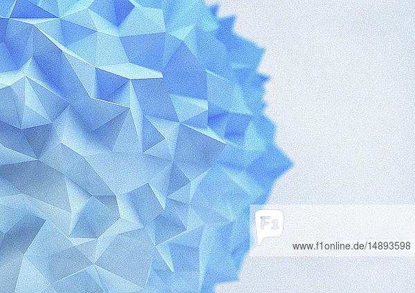 Abstrakte  blaue Low poly-Kugel