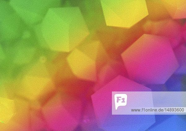 Abstrakte geometrische Formen im Farbverlauf