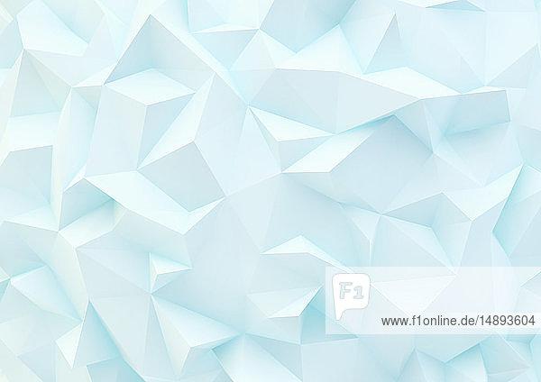Formatfüllende Low poly-Oberfläche