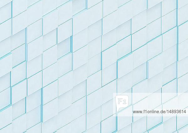 Abstrakte Wand aus unebenen quadratischen Blöcken