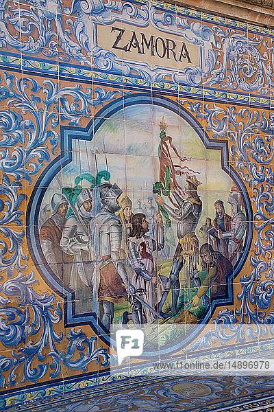 Europe  Spain  Andalucia  Seville  Parque de Maria Luisa