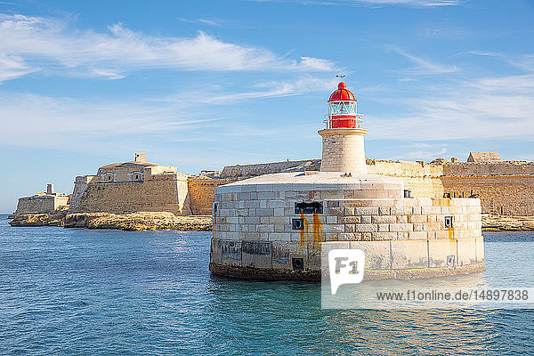 Malta  Valletta  the lighthouse of the Ricasoli fort