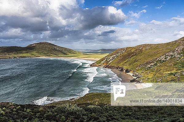 Tranarossan Beach on Rosguill peninsula; County Donegal  Ireland