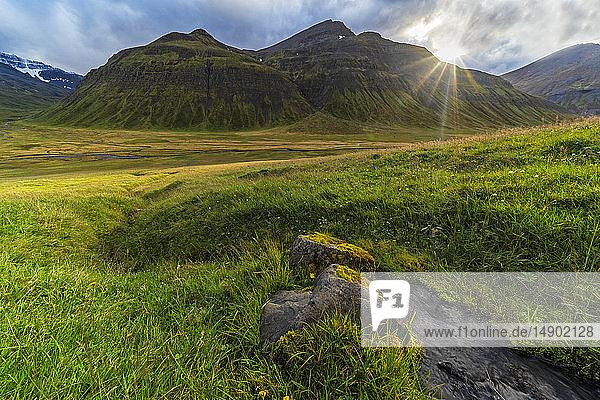 Scenic views on the Trollaskagi peninsula in Northern Iceland; Iceland