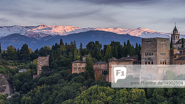 The Alhambra  a palace and fortress complex; Granada  Spain