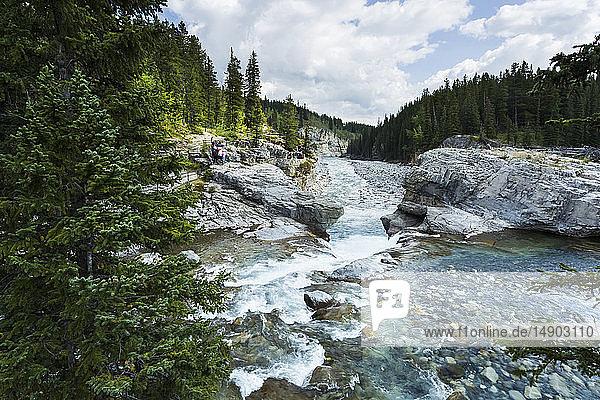 Elbow River and Falls; Kananaskis  Alberta  Canada