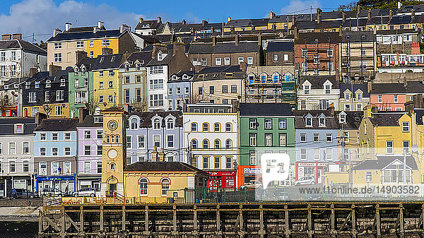 Colourful buildings in the town of Cobh; Cobh  County Cork  Ireland