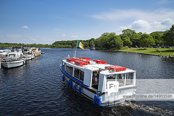 A tour boat in Lough Key  Lough Key Forest Park; County Roscommon  Ireland