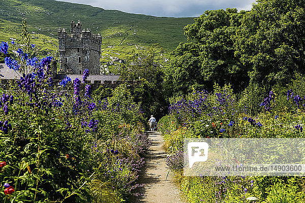 Castle and gardens in Glenveagh National Park; County Donegal  Ireland