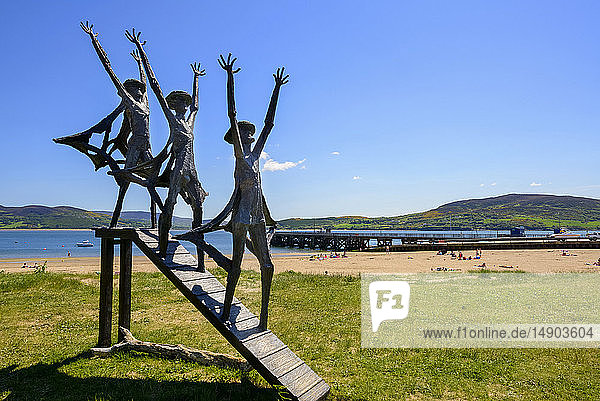 Flight of the Earls sculpture; Rathmullan  County Donegal  Ireland