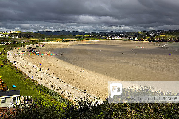 Beach along the coast of Northern Ireland in Sheephaven Bay; Downings  County Donegal  Ireland