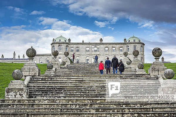 Tourists at Powerscourt Estate; Enniskerry  County Wicklow  Ireland