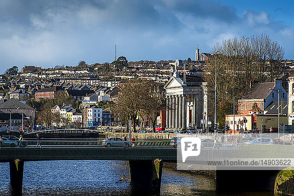 St. Mary's church and the River Lee; Cork City  County Cork  Ireland