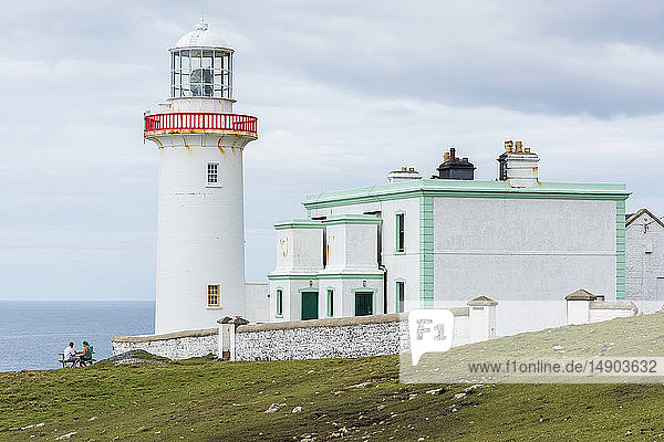 Lighthouse on Arranmore Island; County Donegal  Ireland