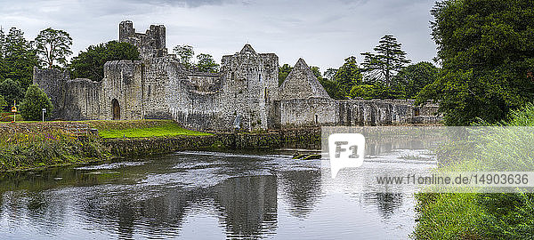 Desmond Castle along River Maigue; Adare  County Limerick  Ireland