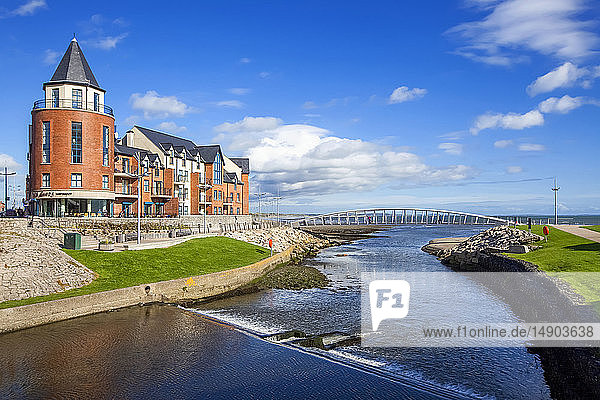 The seaside resort town of Newcastle in Northern Ireland; Newcastle  County Down  Ireland