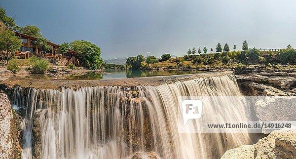 Panoramic View of Niagara Falls on the Cievna river in Montenegro.