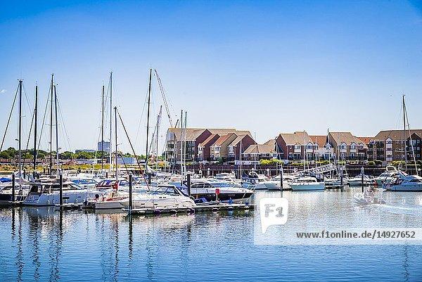 Ocean Village Marina. Southampton  Hampshire  England  United Kingdom  UK  Europe.