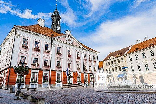 Town Hall Square. Tartu  Tartu County  Estonia  Baltic states  Europe.