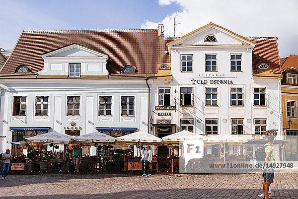Tallinn Old City  Town hall square. Tallinn  Harju County  Estonia  Baltic states  Europe.