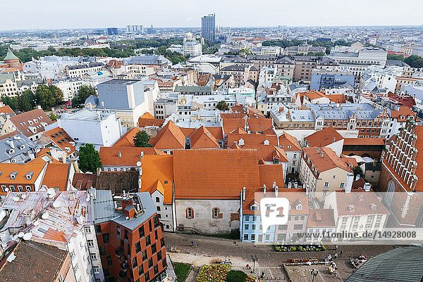Riga old town from St. Peter's Church. Riga  Latvia  Baltic states  Europe.