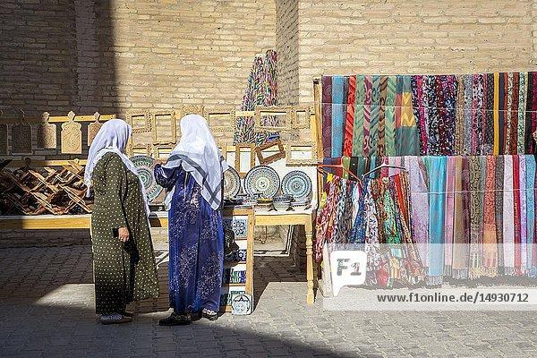Souvenir shops  Khiva  Uzbekistan.